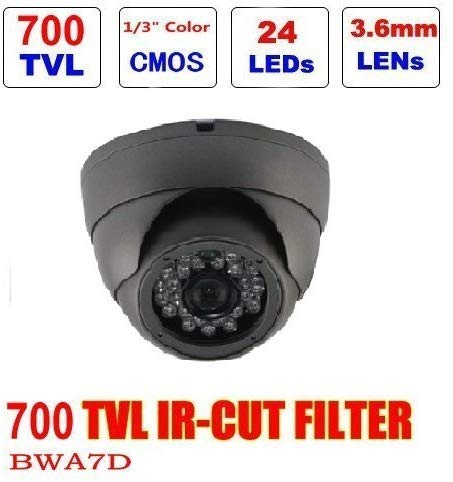 TVCC Dome A7D 1/3 inch CMOS 800TVL CCTV met IR Cut Filter plafond dag nacht bewakingscamera CCTV camera met 50 ft IR Gamma Night Vision-White lsm Zwart