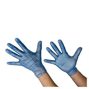 Guanti blu in vinile leggermente in polvere Confezione da 800 pezzi senza lattice di grandi dimensioni
