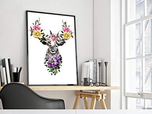 Diamantschilderij 5D DIY diamant vierkant diamant geluk hert 40 x 65 cm strass pasta borduurwerk kruissteek kunst handwerk thuis wanddecoratie
