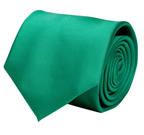 Fabio Farini - Cravate unie élégante en différentes couleurs au choix vert 6 cm