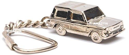 Richter Mitsubishi Pajero Modell Auto Schlüsselanhänger Massiv Metall Glieder und Schlüsselring 3D Modell