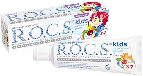 R.O.C.S. - Zahncreme Kids Fruchteis Effektives Mittel zum Schutz vor Karies ohne Fluor - 45 g