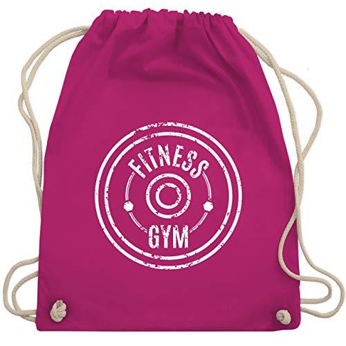 Shirtracer Fitness & Workout - Fitness Gym - Unisize - Fuchsia - sportklamotten - WM110 - Turnbeutel und Stoffbeutel aus Baumwolle