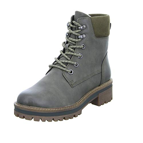 Tamaris Damen Stiefelette 1 26250 21 Desert Boots Outdoor Winterstiefel Warmfutter Trekkingsohle Oliv (Bottle) Größe 36 EU