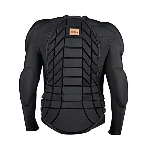 BenKen Ultraleichte Schutzausrüstung Skifahren Körperpanzerung Wirbelsäule Rückenschutz Outdoor Sport Anti-Kollision Kleidung für Snowboard Skating Skifahren Reiten Motorrad Motocross