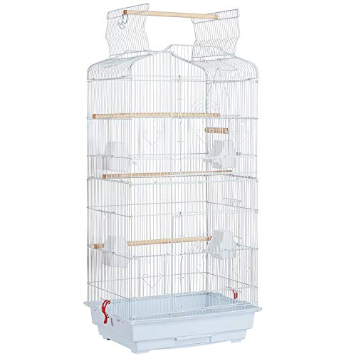 Yaheetech Jaula para Pájaros Jaula Metálica para Mascota