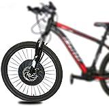 Kit de conversión de la bicicleta del motor eléctr Kit de conversión E-Bici de la rueda delantera con la batería, 36v 350w de potencia u200B u200b40KM / H for bicicletas de montaña bicicletas MTB 20 '