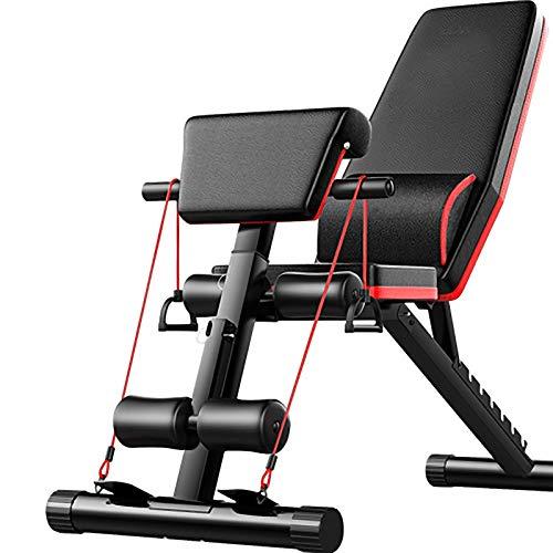 BCBIG Banco de pesas multifunción, banco de entrenamiento plegable, dispositivo de entrenamiento, dispositivo de entrenamiento ajustable, entrenador de abdominales