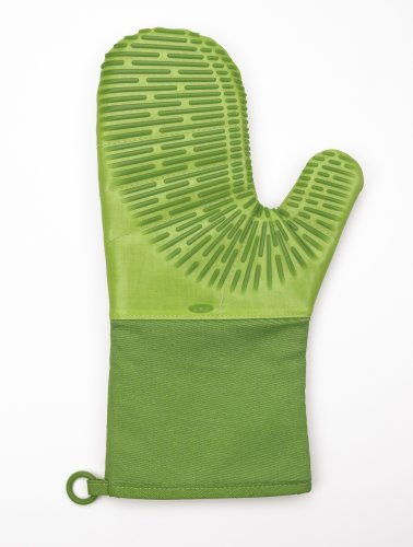 OXO Good Grips Silicone Oven Mitt with Magnet, Key Lime Green