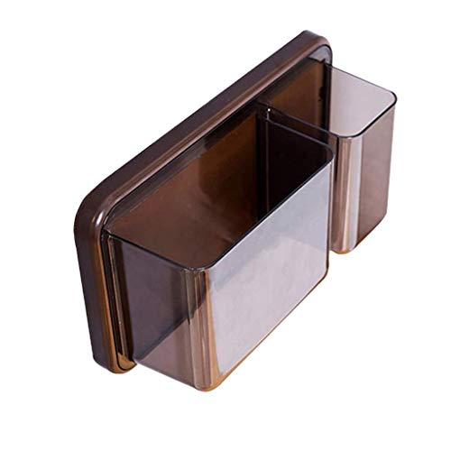 SCDZS Baño Cocina Impermeable y Resistente al Aceite Pared plástico Cesta Estantería de champú, acondicionador, jabón (Color : B)