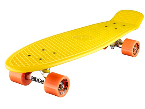 Ridge Retro 27 Skateboard, Unisex, Amarillo, 69 cm