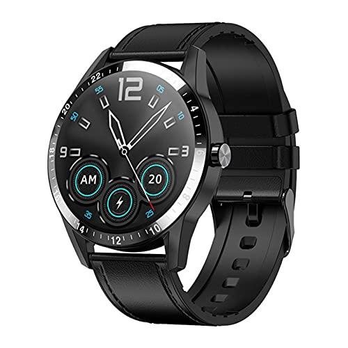 ZYDZ G20 Smart Watch 1.3 Círculo Completo HD Big Screen Bluetooth Llamada De Bluetooth para iOS Android Smartwatch Hombre Y Reloj De Mujeres Deportes Aptitud Pulsera,B