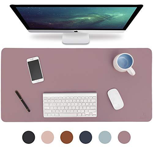 Knodel Tischunterlage, Schreibtischunterlage, 80 x 40cm PU-Leder Tischunterlage, Laptop Tischunterlage, wasserdichte Schreibunterlage für Büro- oder Heimbereich, doppelseitig (Purple)