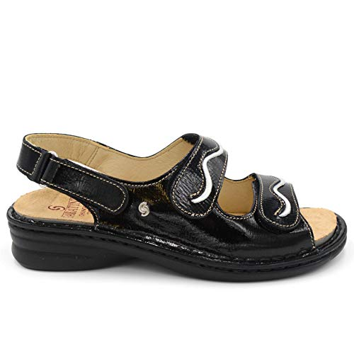 SABATINI Damen Sandalette 0002087 Schwarz, Schwarz - Schwarz - Größe: 39 EU