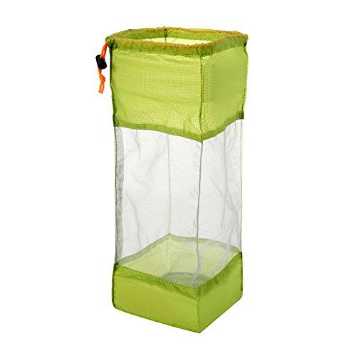 MagiDeal Sac De Rangement en Maille pour Camping Randonnée Stockage Vêtement Corde Équipement - Vert, L