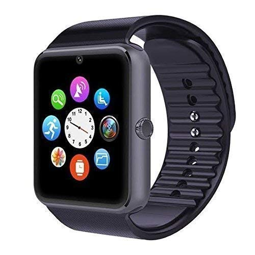 SM Android Smart Watch Bluetooth Smartwatch Compatible with All Mobile Phones for Boys and Girls - Black
