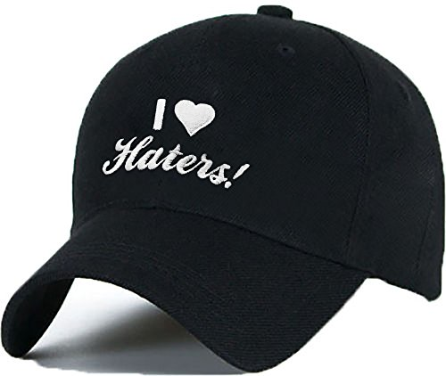 Bonnet Casquette Snapback Baseball I LOVE HATERS 1994 Hip-Hop en Noir / Blanc avec les ASAP Bad Hair Day