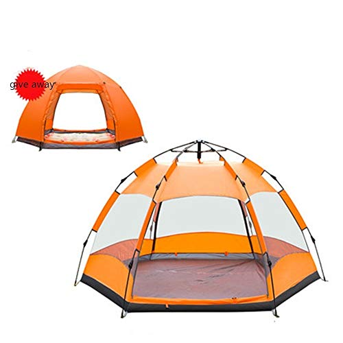 YAOHONG Outdoor tents, tents for outdoor camping thickened, ultra-light automatic equipment, outdoor camping tents, tent rain Travel tent (Color : A)