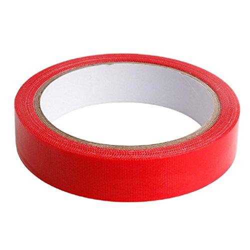 YOFO-Klebeband, hochwertig, strapazierfähig, wasserfest, selbstklebend, für Buchbindung, 2 cm x 10 m, rot