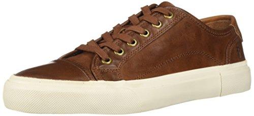 Frye Men's Ludlow Cap Low Lace Sneaker, Cognac, 9.5 M US