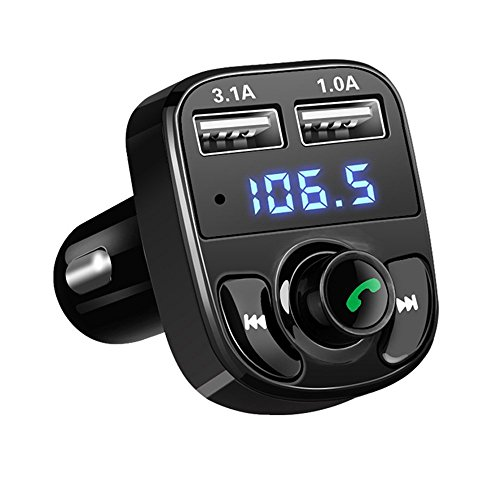 ONEVER inalámbrica Bluetooth FM transmisor, coche receptor estéreo de música Adaptador Manos...