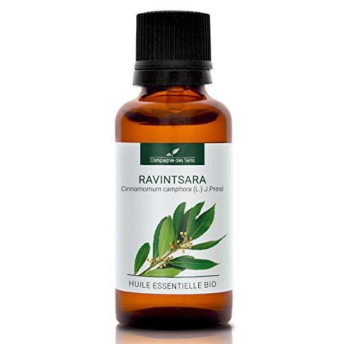 RAVINTSARA BIO - 30mL - Huile Essentielle de qualité Premium - 100% Pure, naturelle, intégrale - Renforcement de l'immunité - La Compagnie des Sens