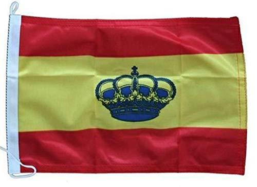 Lalizas Bandera de España con Corona para Barcos 70x100 centímetros
