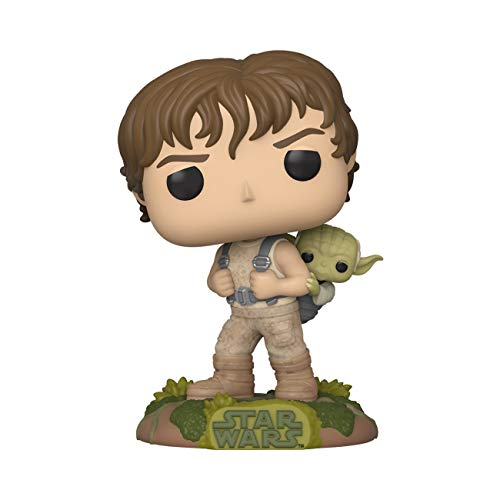 Funko -  Pop! Star Wars -  Training Luke with Yoda Figura Coleccionable,  Multicolor (46768)