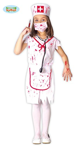 Guirca Zombie Krankenschwester Mädchen Kostüm Gr. 110-146, Größe:140/146