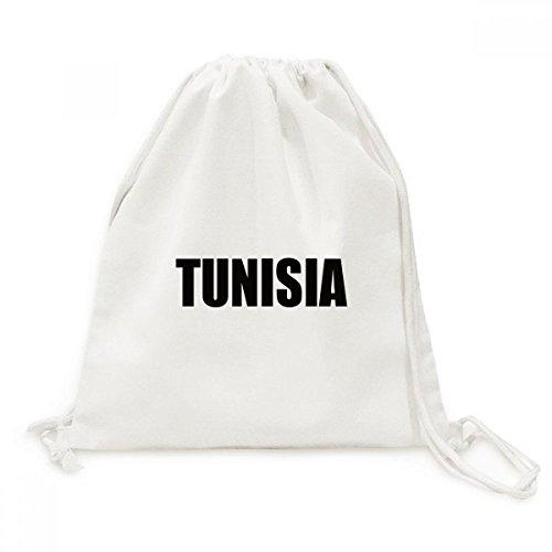 DIYthinker Viajes Túnez Nombre País Negro Lienzo morral del Lazo Bolsas de la Compra