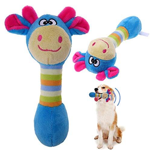 Qpets® Funny Animal Shape Dog Plush Squeaker Toy