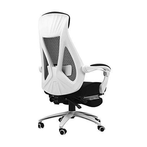 Video Game Chair,Rotating Ergonomic Computer Chair,Home Boss Chair Business Ergonomic Swivel Chair Gaming Chair Game Chair Reclining Office Chair Loading 400Kg,White,68 68 113 with Backrest