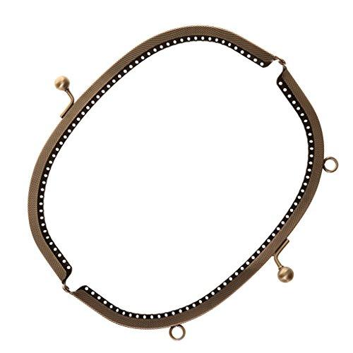 Sharplace Herramienta Antigua Cartera Broche de Marco de Metal Bricolaje - Bronce,...
