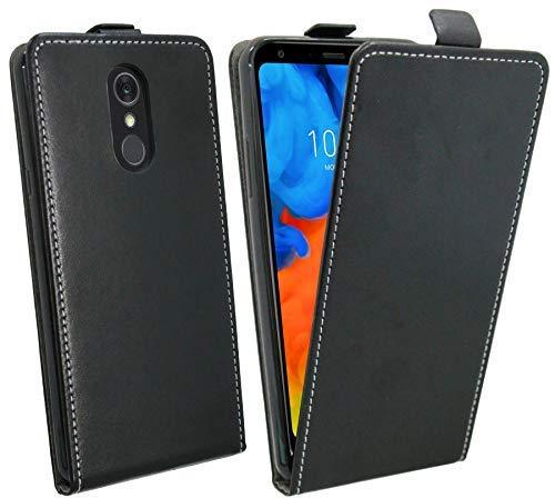 Flip Hülle kompatibel mit LG Q Stylus Handy Tasche vertikal aufklappbar Schutzhülle Klapp Hülle Schwarz @cofi1453®