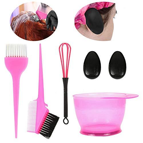 Hair Dye Set - 6 Pièces Hair Dye Jeu D'outils, Couleur Peigne Mixte Bol Cheveux Dye Ensemble D'outils, Salon De Couleur Ton Jeu D'outils