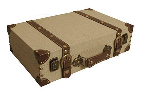 Wald Imports 70060 Light Tan Canvas Suitcase Storage