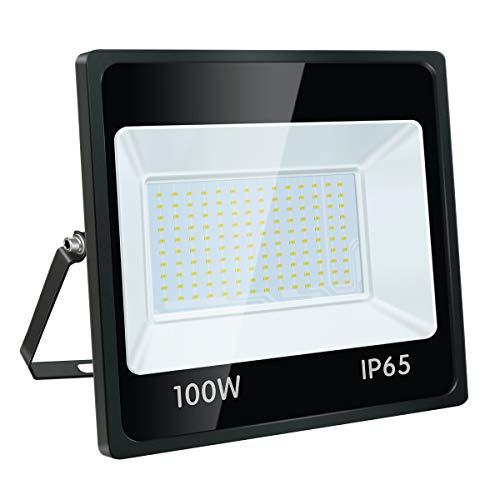 STASUN 100W LED Strahler, 9000LM Superhell LED Fluter Flutlicht Außenstrahler, IP65 Wasserfest 6000K Tageslichtweiß, Ideale Wandleuchte Außenbeleuchtung für Garten, Garage, Hotel usw.