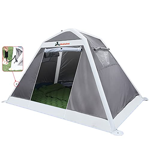 Zealwind Inflatable Tent - 2 Person Ultralight Backpacking Tents for Camping - Waterproof Easy Set Up Instant Tent for Kids or Adults, Outdoor Camp Tent for Beach, Hiking with Air Pump and Carry Bag