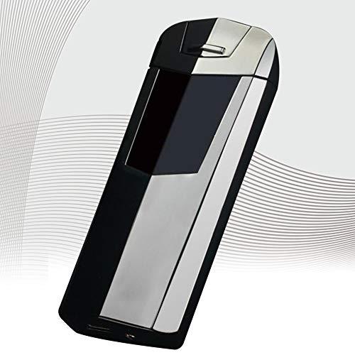 Lighter Encendedor De Carga USB Pantalla Táctil Encendedor De Cigarrillos De Arco Doble Protección Ambiental Encendedor De Cigarrillos Sin Llama A Prueba De Viento para Exteriores,B