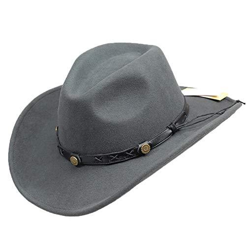 CHENGWJ hoed Fedora Panama mannelijke Herfst En Winter Wol Cowboy Hoed Tibetaanse Mannen En Vrouwen Rijden Hoed Amerikaanse West Cowboy Ridder Hoed Jazz