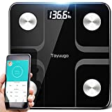 Toyuugo Bluetooth Body Fat Bathroom Scale,Scales Digital Weight,Weight Scale,Body Composition Analyzer Wireless BMI with Smart Phone App Scales,396 Pounds / 180kg Max (Black) body composition scales May, 2021