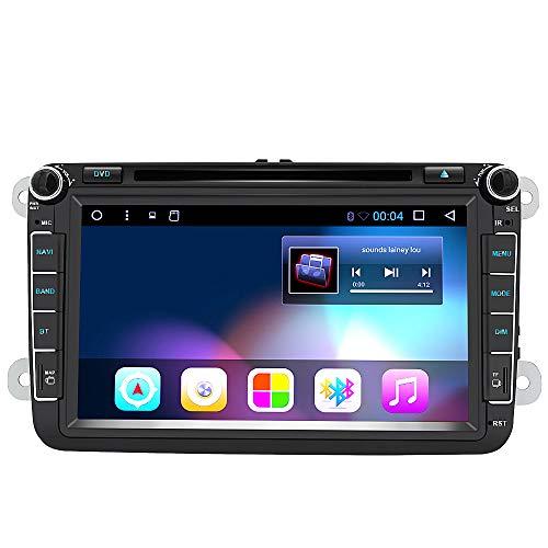 Android 8.1 8 Pulgadas Radio Coche 2 DIN para VW 2GB+32GB, Autoradio Pantalla con WiFi/GPS/Bluetooth/RDS/CD DVD/USB/FM Am/SD, Apoyo Control Volante y Aparcamiento