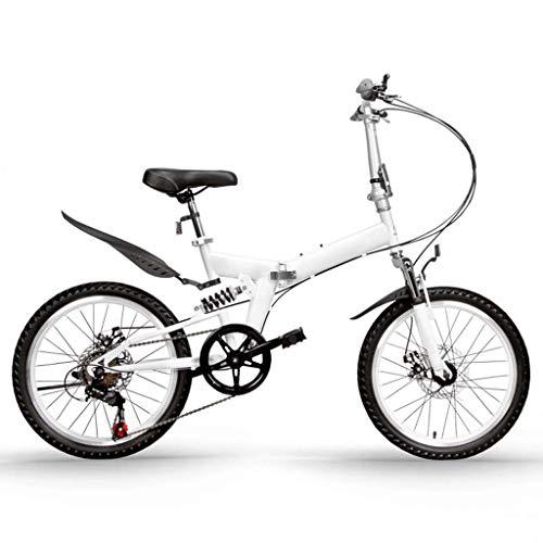 Bicicleta Plegable De 7 Velocidades, Ligera, Delantera Y Trasera, Bicicletas Con Amortiguación, Bicicletas De Movilidad Urbana, Montaña, Exterior, Frenos De Disco Mecánicos Delanteros Y Traseros