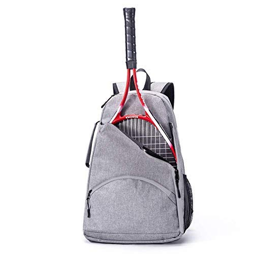 QEES Tennis Racket Bag, Tennis Backpack, Large Capacity Tennis & Racquet Sports Duffle Bag, 36L Racket Holder Equipment Bag for Tennis, Racquetball, Squash (Grey)