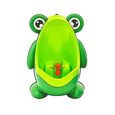 Frog Pee Training,Cute Potty Training Urinal for Boys with Funny Aiming Target,Green Urinals for Toddler Boy