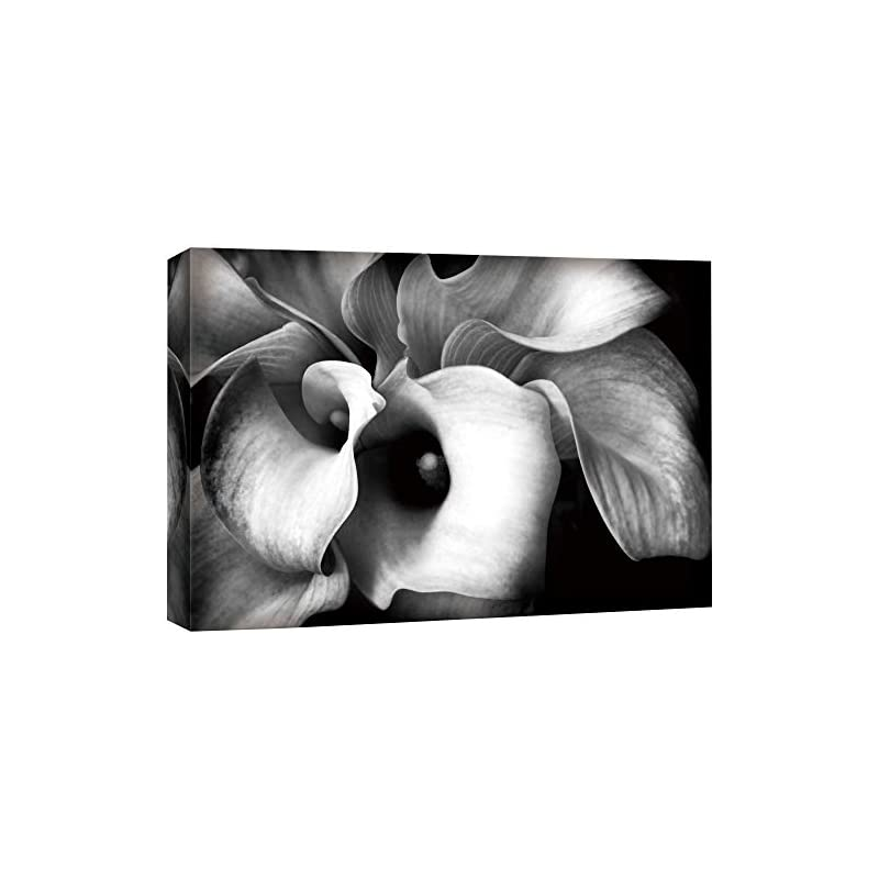 silk flower arrangements wall26 canvas wall art a bouquet of calla lily flowers floral plants photography realism modern closeup dramatic black and white for living room, bedroom, office - 24x36 inches