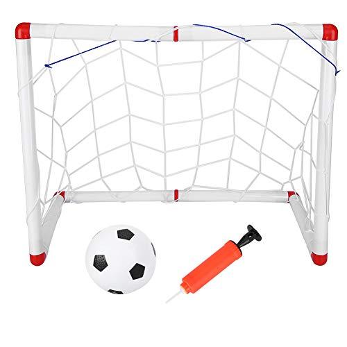 Fdit Mini-Fußballtor-Set, Kinder-Fußballtor-Netz, tragbares Outdoor-Fußballtor-Netz, Kindersport-Fußballtor-Ballzubehör