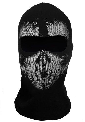 WEWOM Sturmmaske Totenkopf Ghost Motorradmaske Schwarz