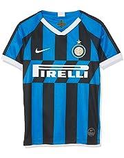 Nike Inter Milan 2019/20 Stadium Home, Maglietta da Calcio Unisex Bambini