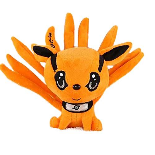 fangzhuo Plüschtier 1pc 25cm süße Anime Naruto Kyuubi Kurama Plüsch Puppe gefüllt weiche neun-Tales Fuchs Tiere Spielzeug kreative Geschenke für Kinder Kinder